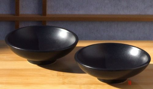 Canapé sauce and condiment dishes round durable X2 black – 8cm